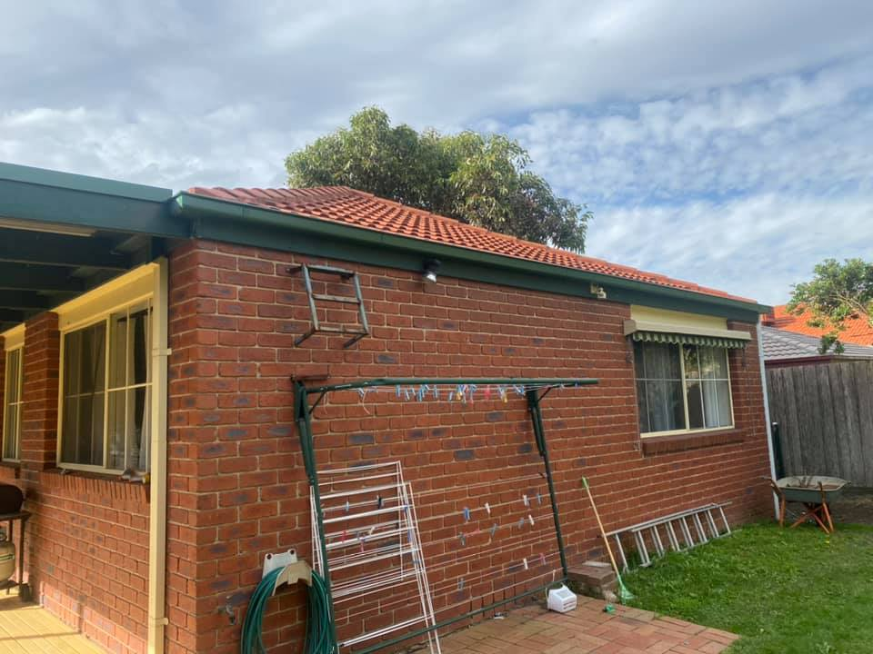 Pergola roof and partial gutter replacement completed in Berwick.